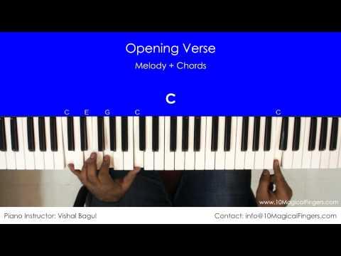 Jeena Jeena - Atif Aslam (Badlapur) Piano Tutorial | Chords | Notations | 10 Magical Fingers