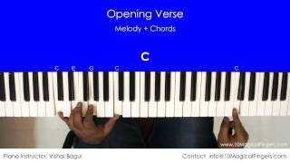 Jeena Jeena - Atif Aslam (Badlapur) Piano Tutorial | Chords | Notations | 10 Magical Fingers