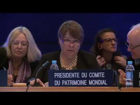 40th World Heritage Committee (Continuation) in UNESCO, Wednesday 26 October 2016, 9h-13h