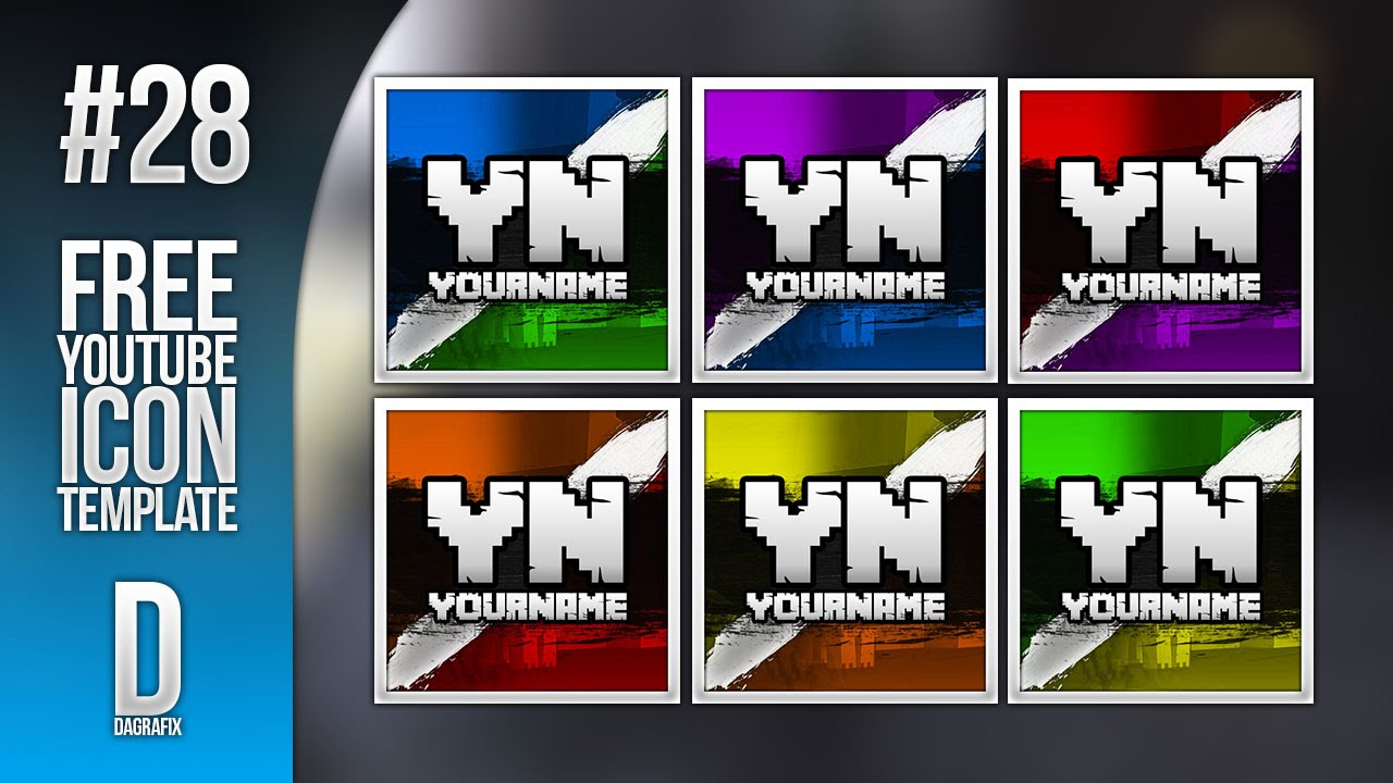 minecraft youtube icon template 28 free photoshop download youtube