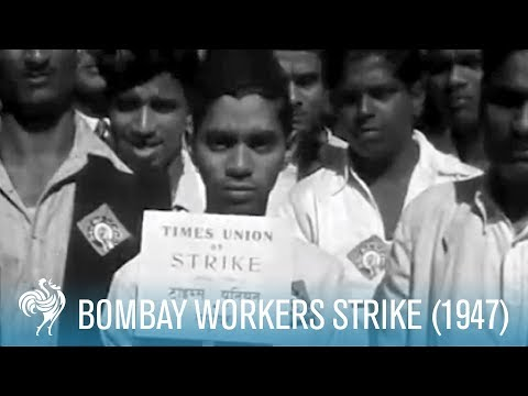 One-Day Workers Strike in Bombay, India (1947) | British Pathé