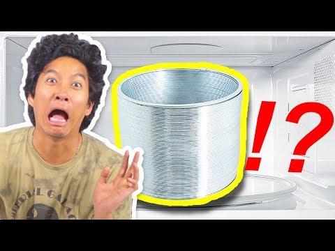 Do Not Microwave Giant Metal Slinky!!!