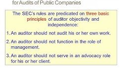 SEC & PCAOB Independence Requirements