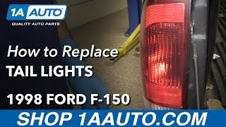 How to Install Replace Tail Light Bulbs Assembly 1997-03 Ford F-150