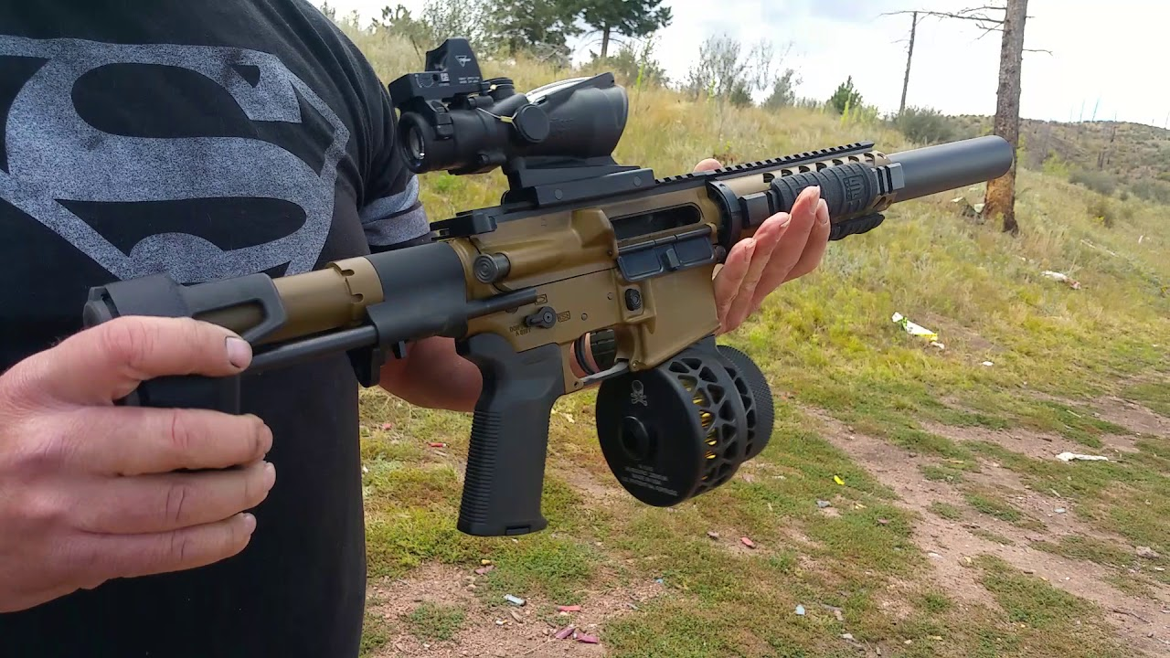 PDW Honey Badger Pistols with Franklin Armory Binary Trigger and Suppressor