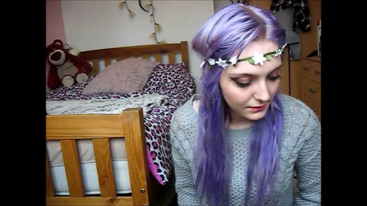 Black To Lilac Hair Tutorial YouTube