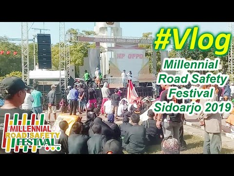 Vlog Deklarasi Millennial Road Safety Festival, Sidoarjo, 10 Maret 2019