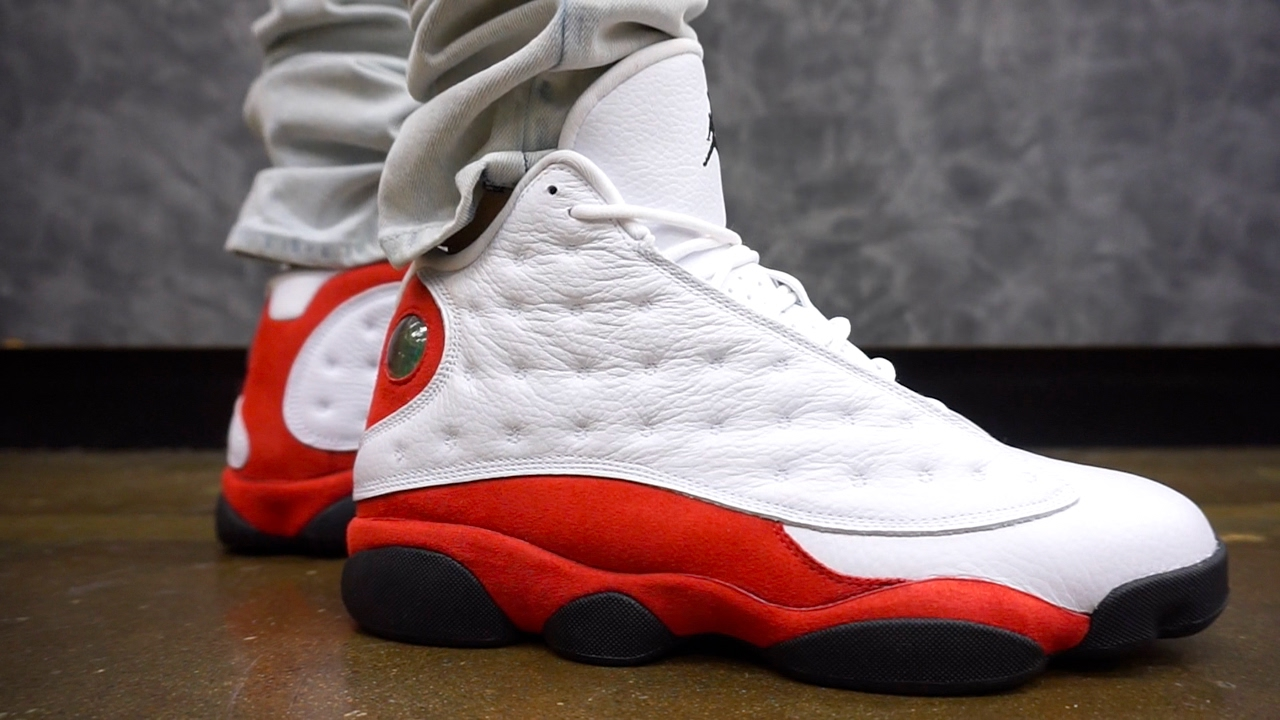 6c0571cd9a8 JORDAN 13 CHERRY   CHICAGO EARLY UP CLOSE ON FOOT !!! - YouTube