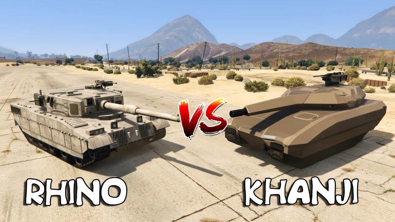 GTA 5 - TANK RHINO VS TANK KHANJIALI (WHICH IS BEST?)