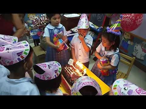 Erich 5th birthday at Philippine Timothy Academy School