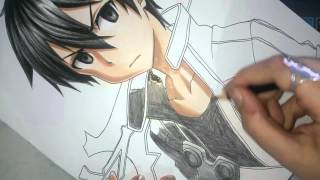 Speed Drawing - Kirito (Sword Art Online)