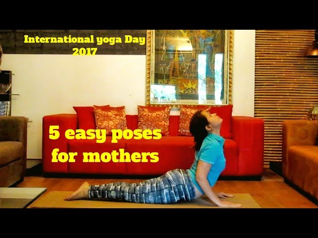 5 easy yoga  for women poses who stayhome and who are working