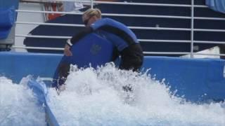 Woman loses bikini top on cruise ship