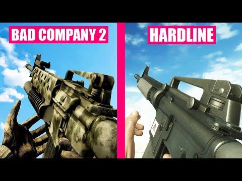 Battlefield Bad Company 2 Vs Battlefield Hardline Weapons Comparison