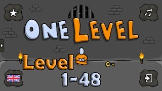 One Level: Stickman Jailbreak Level 1-48 Walkthrough