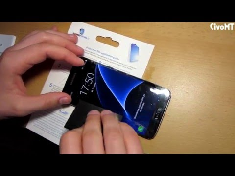 how to apply screen protector samsung galaxy s7 edge. Black Bedroom Furniture Sets. Home Design Ideas