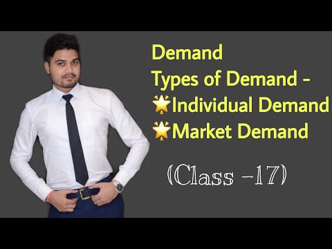 #17, Demand ! Types Of Demand (Individual And Market) - Class XI