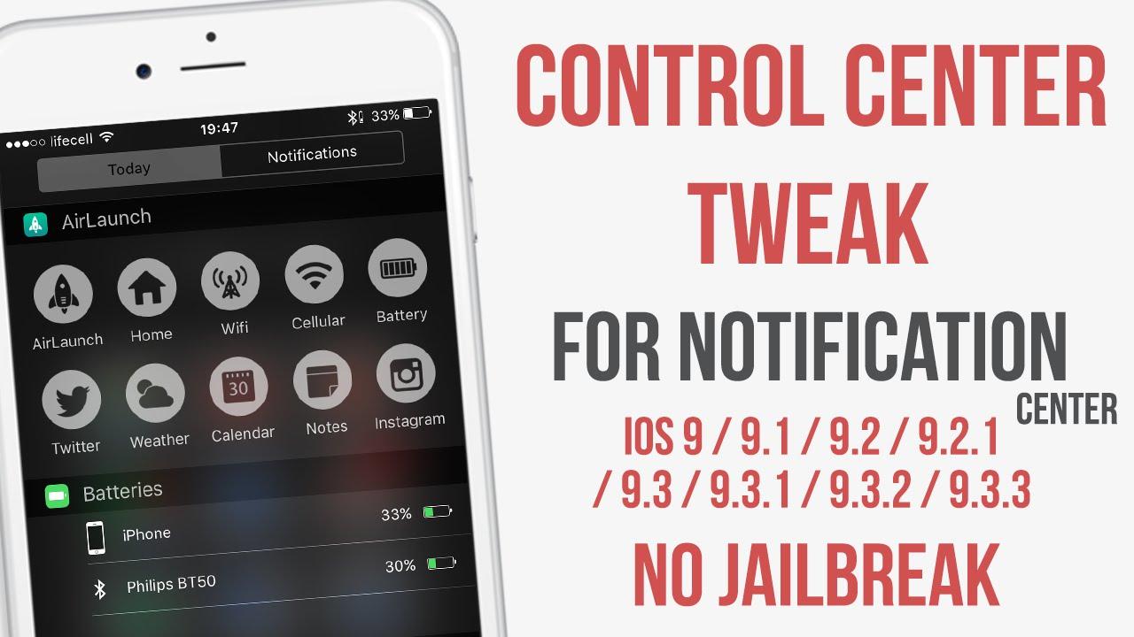 Better Control Center Widget for IPhone! IOS 9 - 9 3 3 No Jailbreak