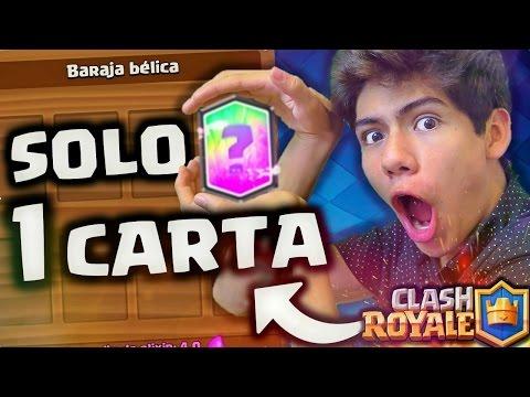 ¡GANO Con SOLO 1 CARTA En Clash Royale! ¿IMPOSIBLE? - [ANTRAX] ☣