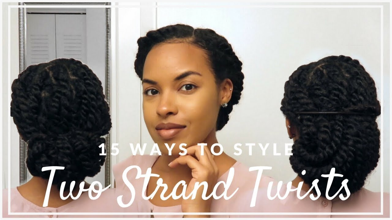 15 Ways To Style Two Strand Twists For Work School Or