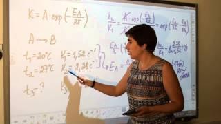 Использование уравнения Аррениуса для решения задач (1/2). Химия для поступающих.