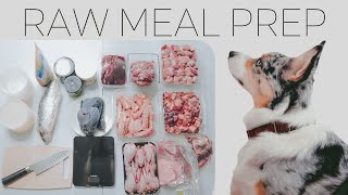Raw Meal Prep For Dogs