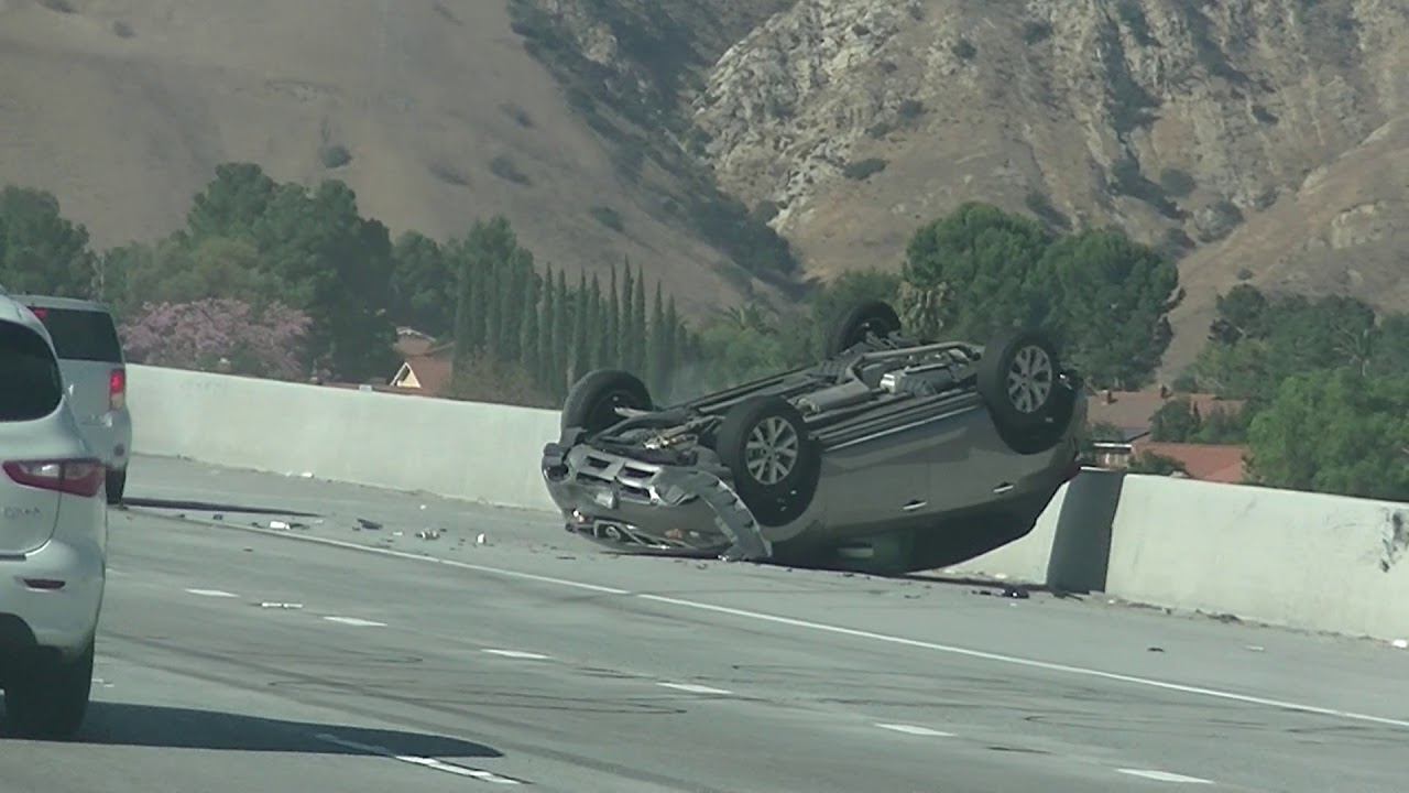 Car #Accident Auto Flipped over on I91 #crash in Riverside CA by ...