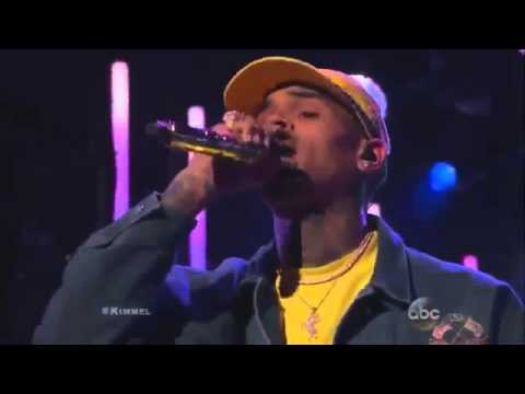 Chris Brown & Rick Ross performing at Jimmy Kimmel - SORRY