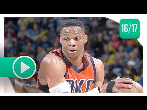 Russell Westbrook Triple-Double Highlights vs Hornets (2017.04.02) - 40 Pts, 13 Reb, 10 Ast