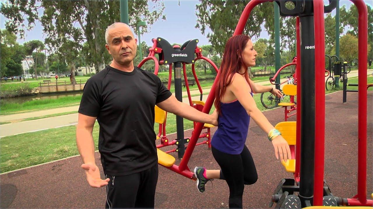 אימון מתקדם בפארק עם המאמן ברק צור