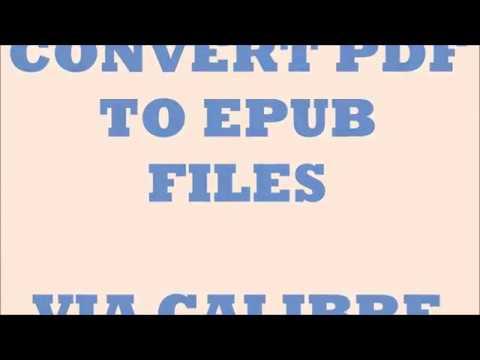 PDF to Epub in Calibre