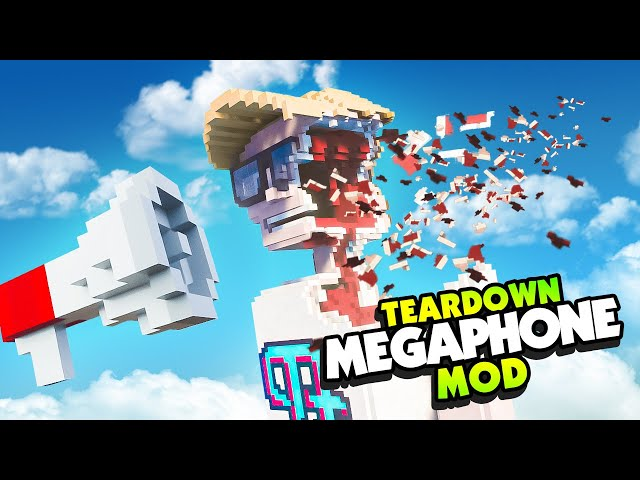 The MOST POWERFUL MEGAPHONE In The UNIVERSE Destroys Humans - Teardown Mods