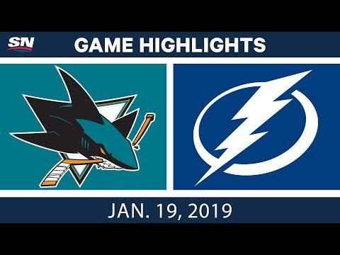 NHL Highlights | Sharks vs. Lightning - Jan. 19, 2019