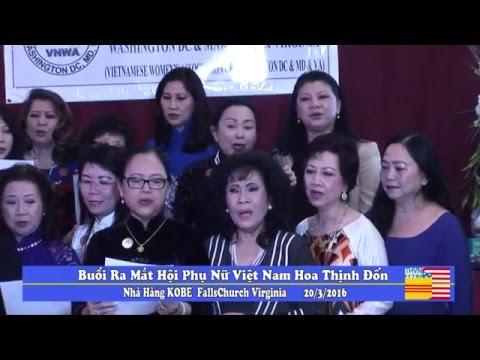 Buổi ra mắt Hội Phụ Nữ Việt Nam vùng Hoa Thịnh Đốn THVNHTD