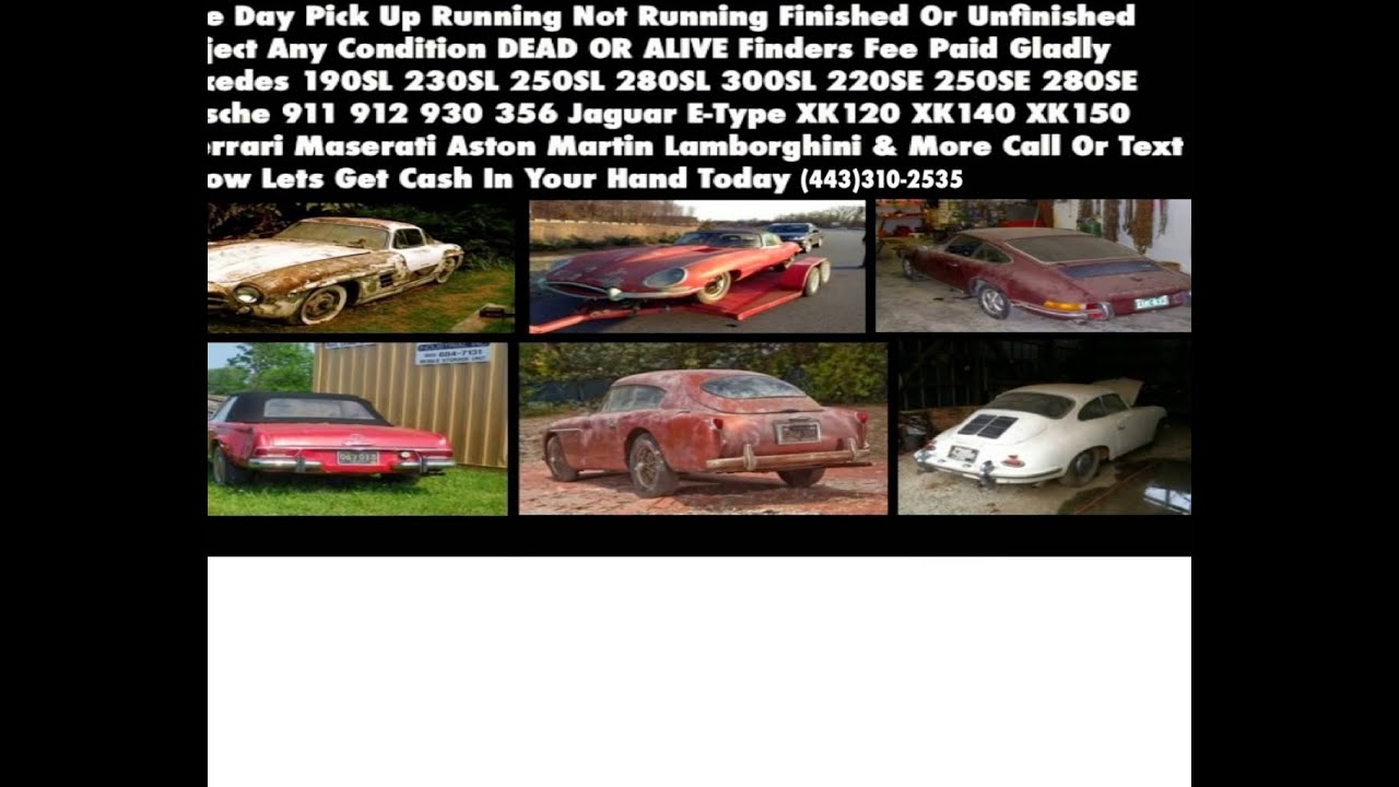 CLASSIC EUROPEAN CARS WANTED - YouTube