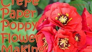 Paper poppy how to make crepe paper poppy flower diy mightylinksfo