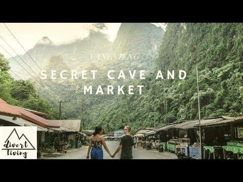 TRAVELING VANGVIENG LAOS | HIDDEN MARKET VANG VIENG LAOS | HOW TO TRAVEL VANG VIENG LAOS