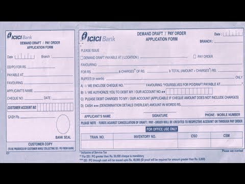 in how to fill icici bank dd application form youtube