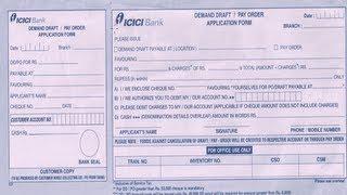 ICICI Bank DD Başvuru Formu doldurmak için Nasıl-