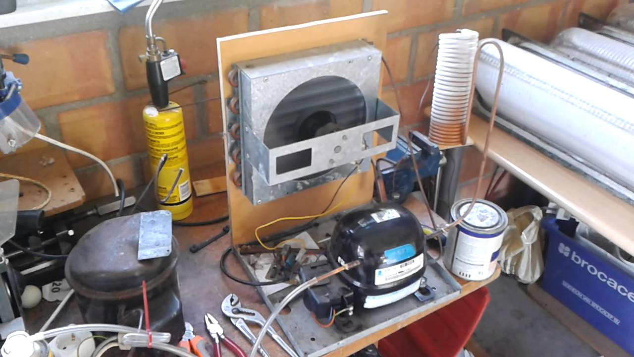 Homemade Refrigeration System Youtube