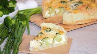 Киш с тунцом и брокколи/ Quiche with tuna and broccoli