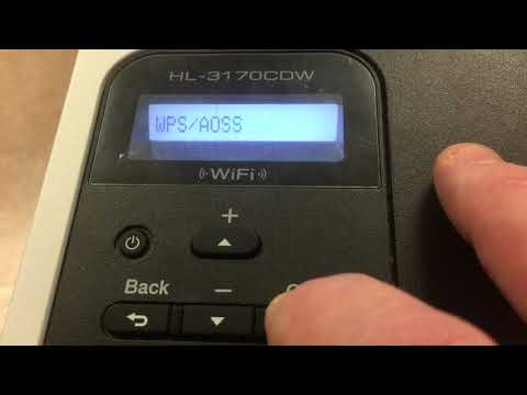 How To Set Up Wireless Printing On Brother HL-3170CDW Printer