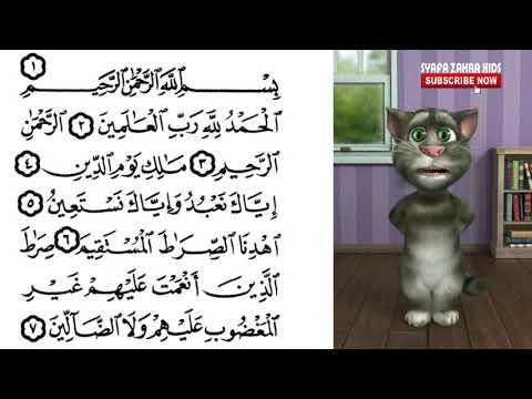 Merdu Kucing Ngaji Surat Al Fatihah Talking Tom