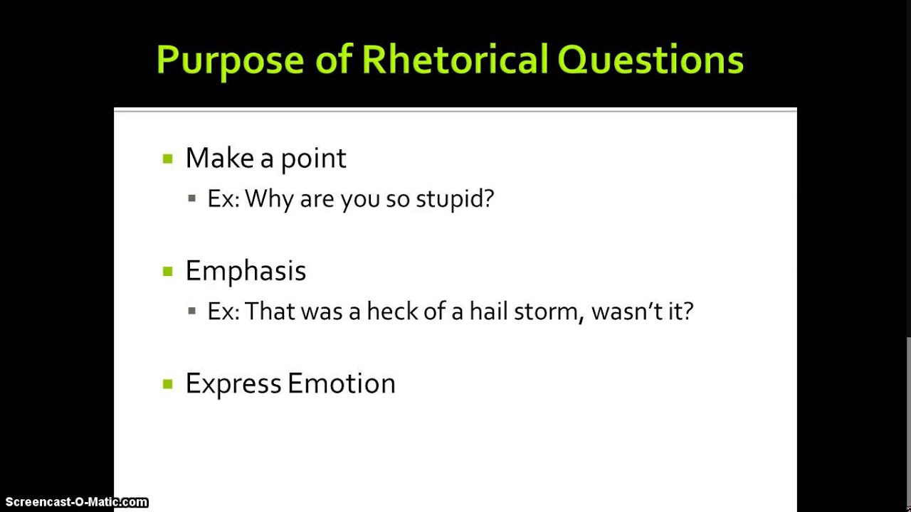 Should i avoid rhetorical questions in essays