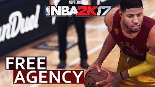 NBA 2K17 ONLINE FREE AGENCY / CREW MODE | NEW CONCEPT MODE