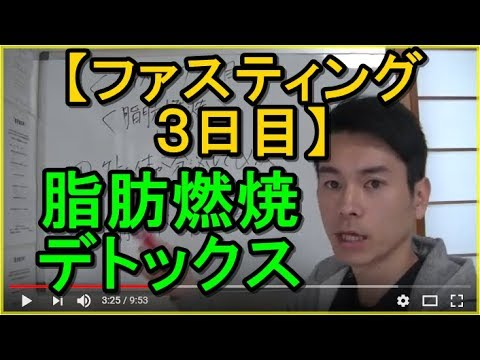 【ファスティング 3日目】脂肪燃焼デトックス