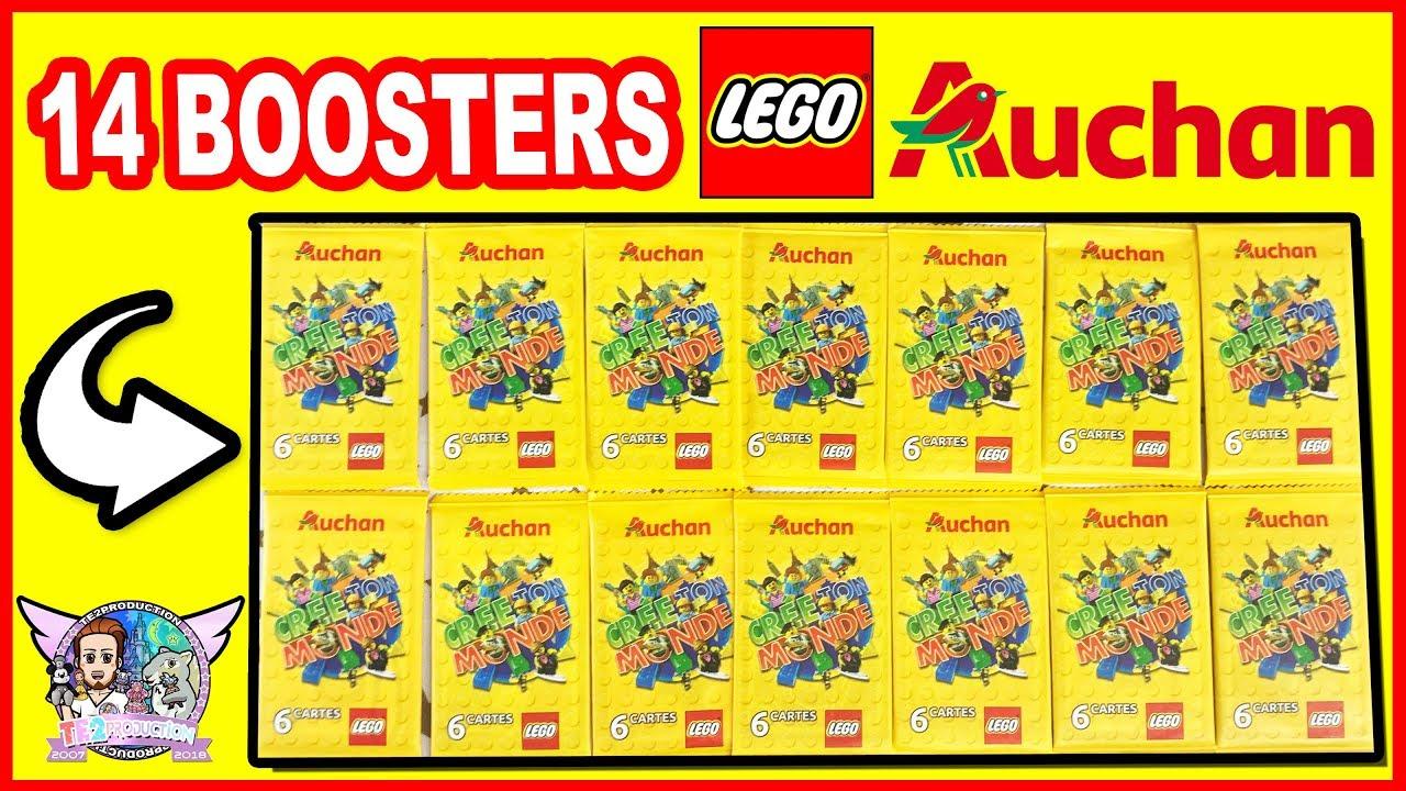 Carte Lego Auchan Livre.Ouverture 14 Boosters Lego Cartes Auchan Cree Ton Monde Youtube