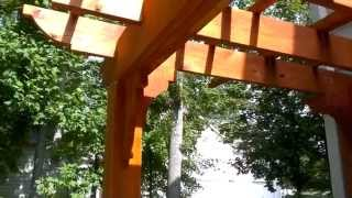 Pergolas or arbors are the perfect way of softening the impact of the sun in a particular area of our yards or outdoor areas, they are