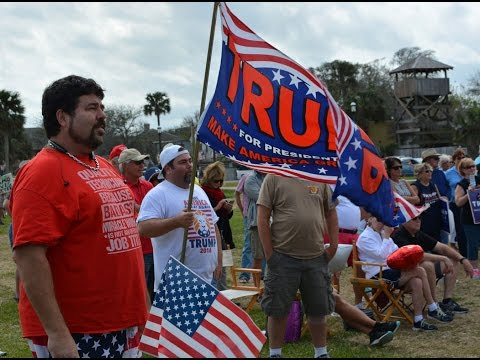 Pro-Trump Rally in St. Augustine (2/27/2017)