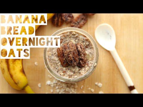How To Make Banana Bread Overnight Oats   Healthy Overnight Oatmeal Recipe